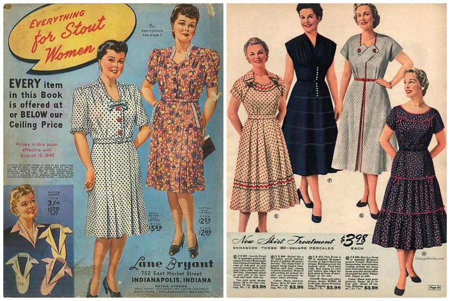 Модные советы для полных девушек из книг 1940-х годов