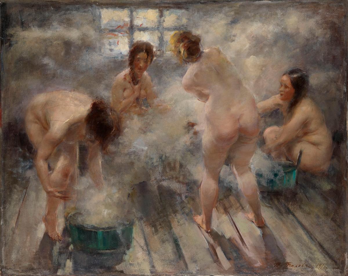 Русские девушки в в бане 7 фотография