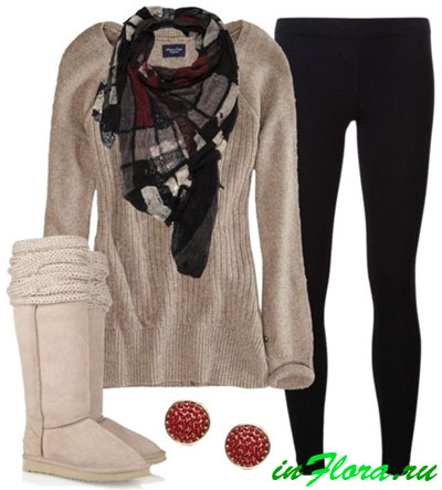 модный шарф осень-зима 2015