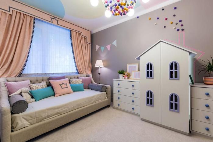 Сказочный город в интерьере детской комнаты