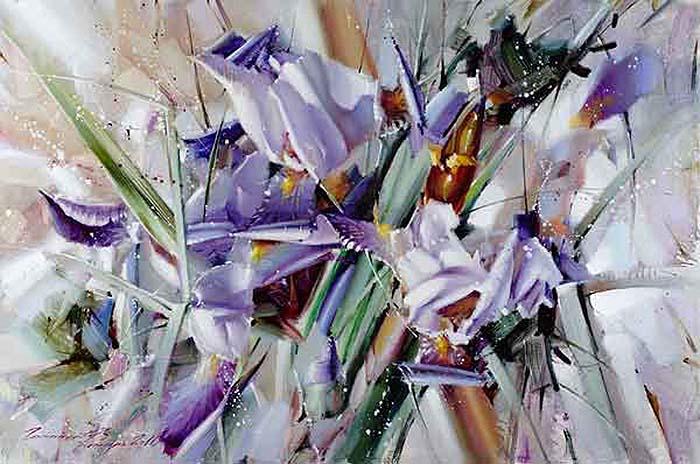 Триумф живой красоты — роскошные цветочные натюрморты мастихином Рамиля Гаппасова