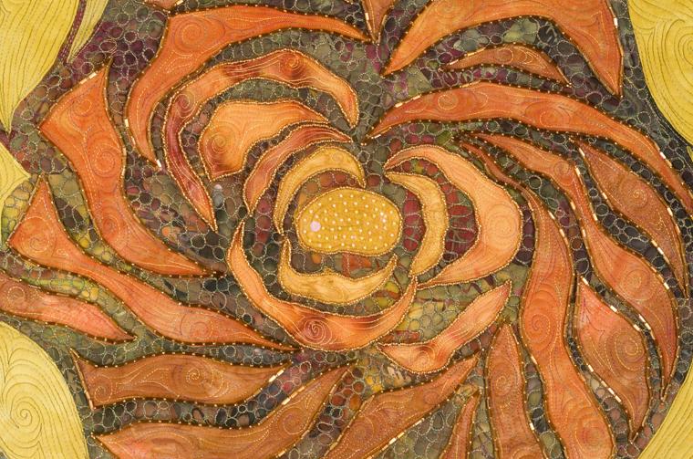 Творчество художника по текстилю Larkin Jean Van Horn: квилтинг, бисер, вышивка