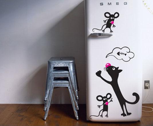 Трафарет на холодильник своими руками