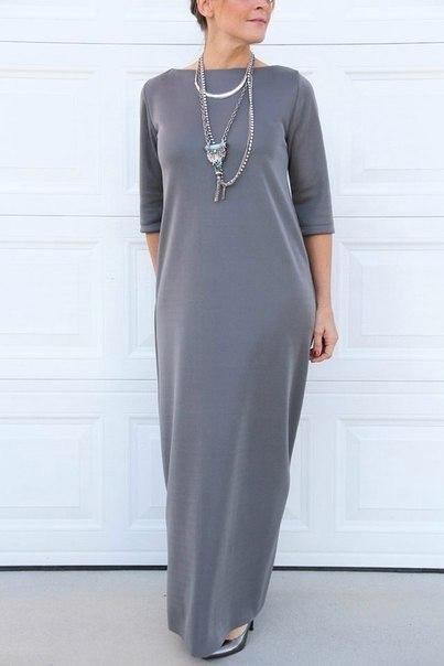 Элегантное платье без выкрой…