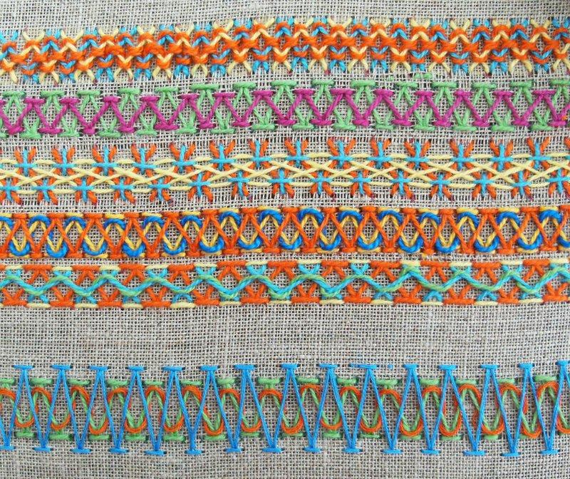 Вышивка декоративными стежками
