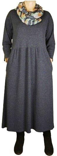 Темно-серое платье бохо