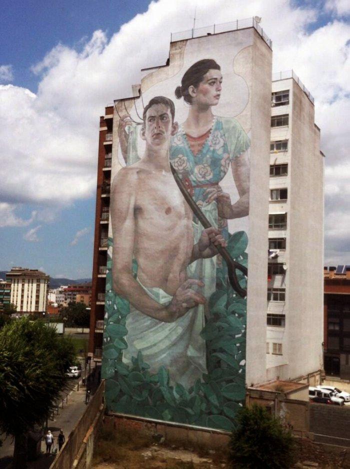 Монументальные уличные рисунки Aryz