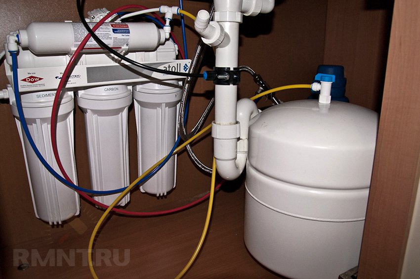 Фильтры для воды под мойку установка своими