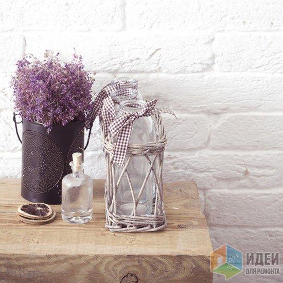 Декор бутылок лентами, декор в стиле прованс