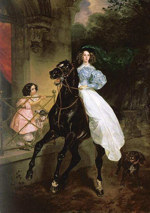 «Всадница» девушки, живопись, история, картины, портреты