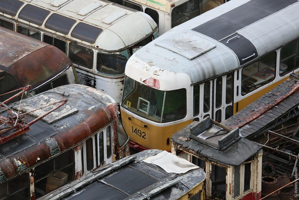 Кладбище городского транспорта Москвы городской, москва, транспорт