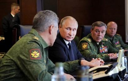 """Путин и Шойгу высоко оценили итоги этапа учений """"Запад-2017"""""""