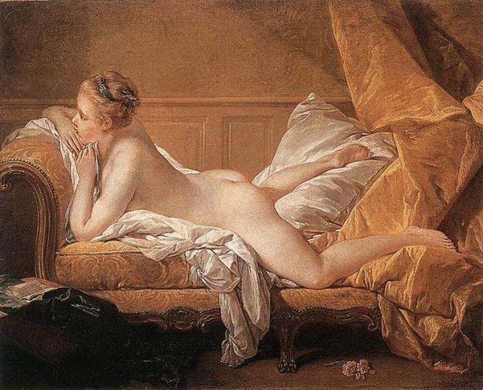 Отдыхающая девушка, Франсуа Буше, 1751 год