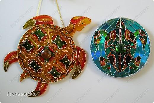 Золотая черепаха из дисков