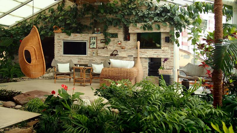 Дизайн зимнего сада фото