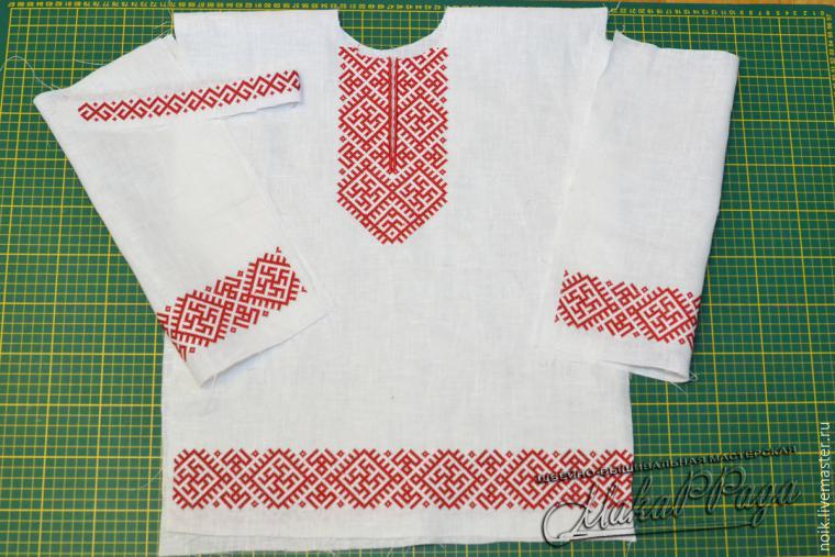 Шьем русскую народную рубаху