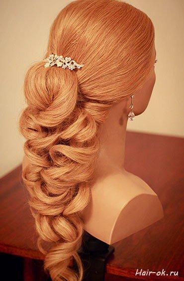 Причёска на выпускной на длинные волосы своими руками фото