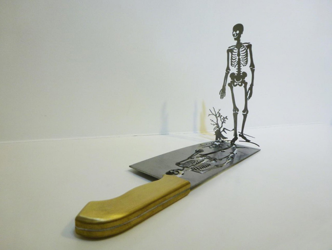Силуэты, вырезанные из ножей Li Hongbo