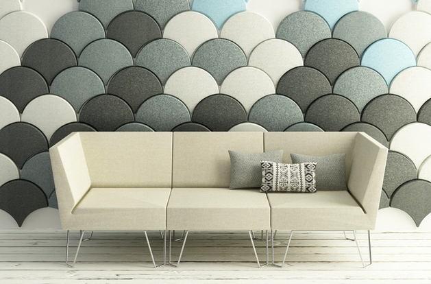Декор в цветах: бирюзовый, серый, светло-серый, белый. Декор в .