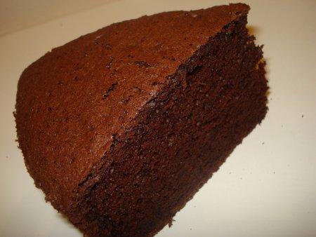 Шифоновый шоколадный бисквит на кефире