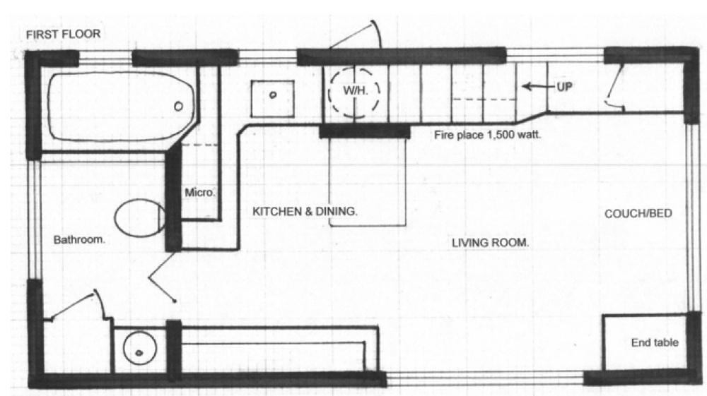 Когда смотришь на эту крохотную «избушку», не верится, что внутри — стильная двухкомнатная квартира со всеми удобствами. Проверим?