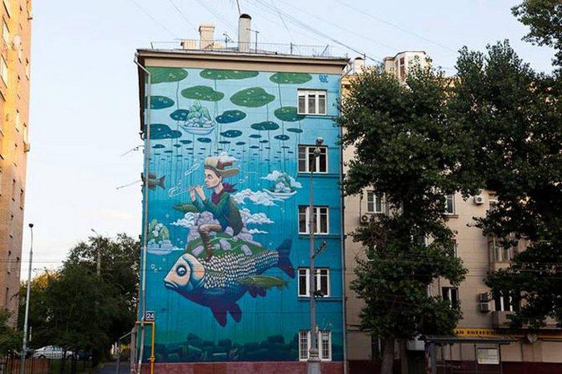 стрит арт, художник, города