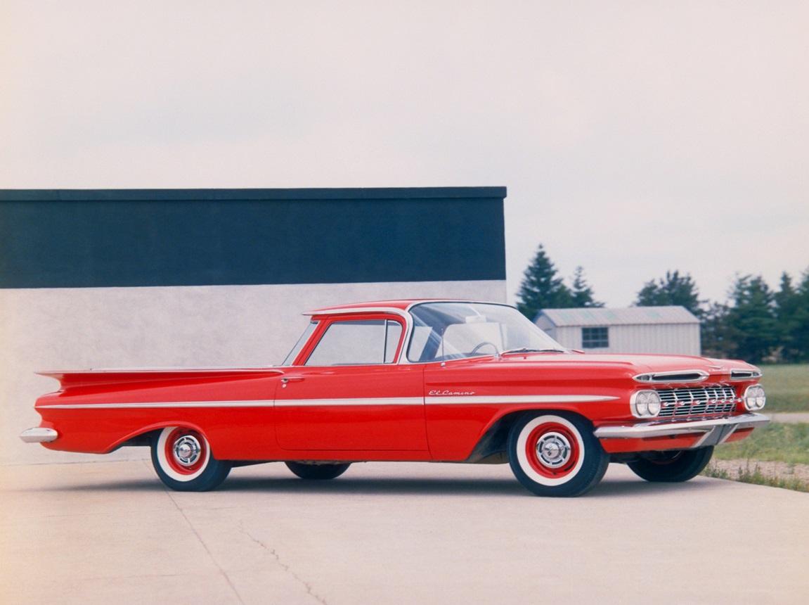 1959 год, Chevrolet El Camino первого поколения неспроста заслужил славу самого красивого в мире пикапа. chevrolet, автодизайн, красота