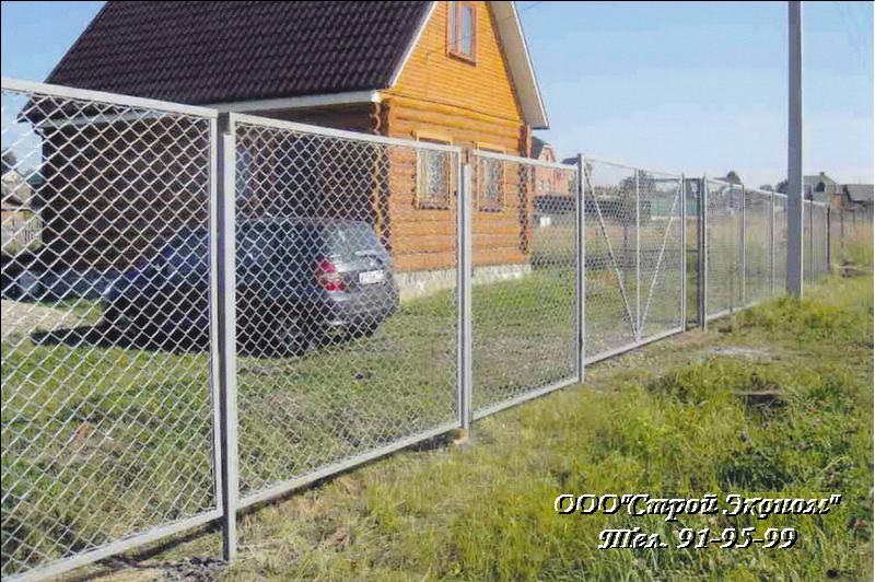 Забор из сетки рабицы: три с…