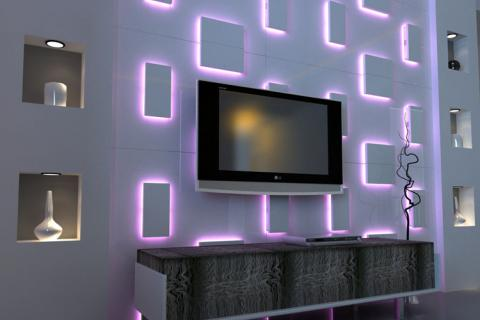 стена с подсветкой