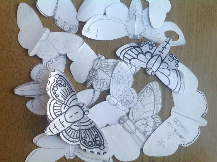 Вышиваем бисером элегантную бабочку. Часть первая