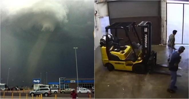 Торнадо за минуту уничтожило несколько американских заводов. Смертельная сила природы, реальное видео!