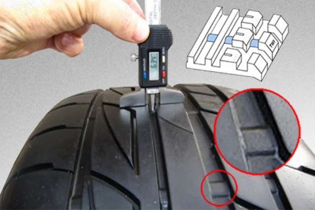 Протектор шины минимум 62