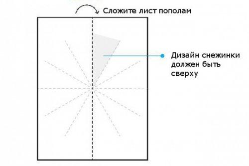 Схемы бумажных снежинок для …