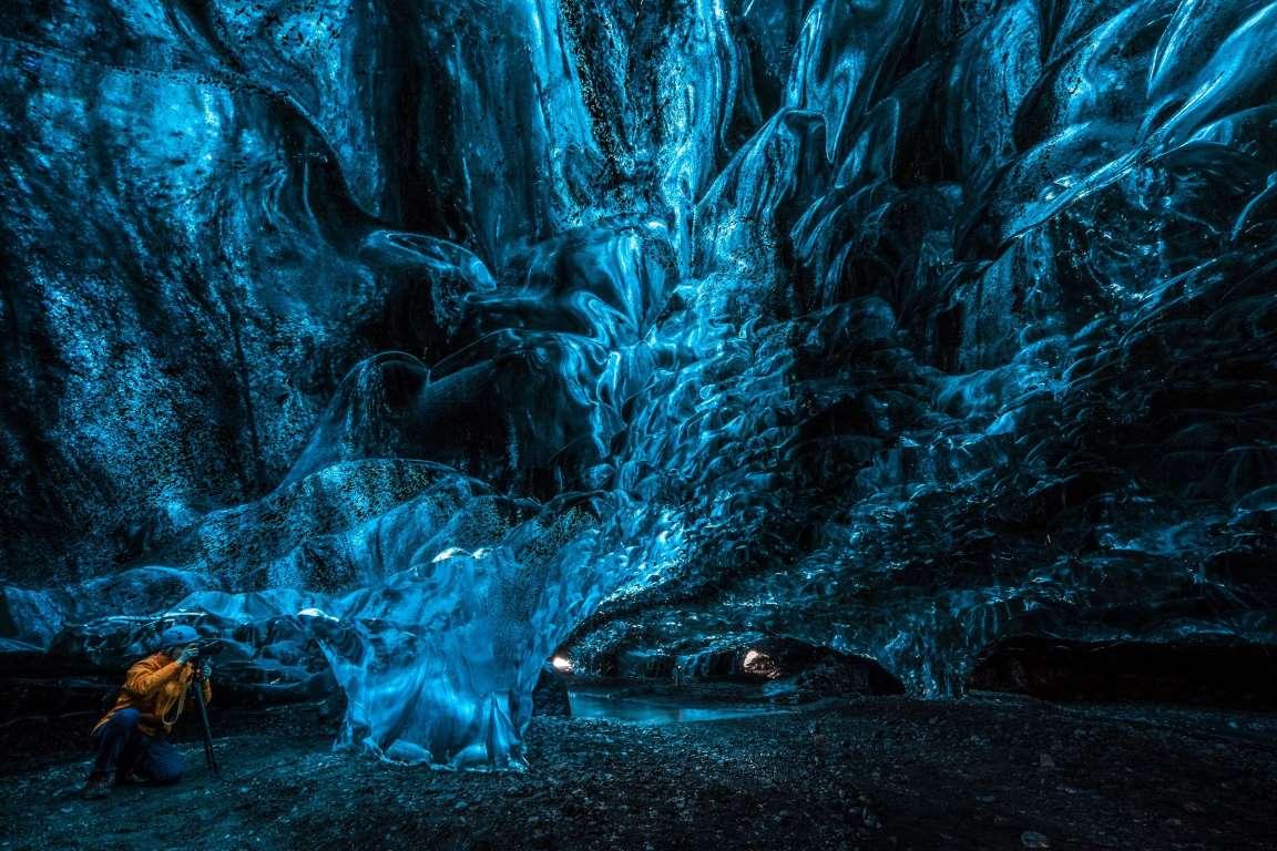 Потусторонняя пещера в леднике Ватнаёкуль-13