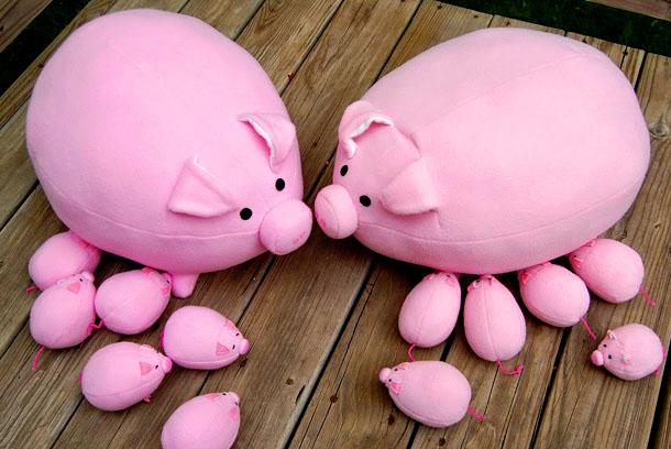 Свинка из ткани - талисман 2019 года (2 мастер-класса)