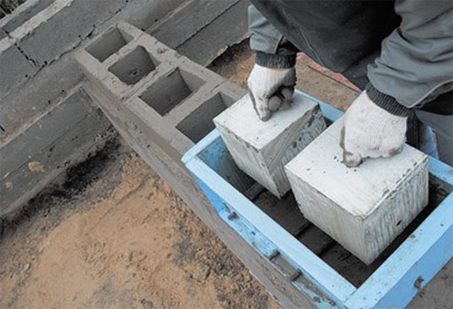 Как сделать блоки для дома 574