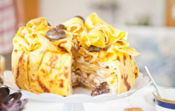 Торт из блинов с маковой начинкой