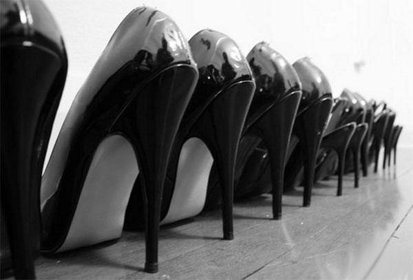 Туфли на каблуках раньше был…