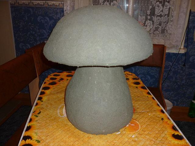 Как сделать гриб для сада
