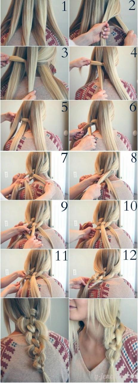 Красивая коса на длинные волосы своими руками