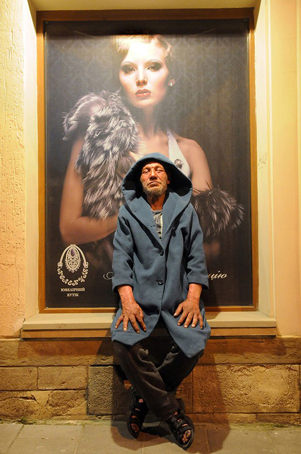 55 летний львовский бомж самый модный бездомный в мире (4)
