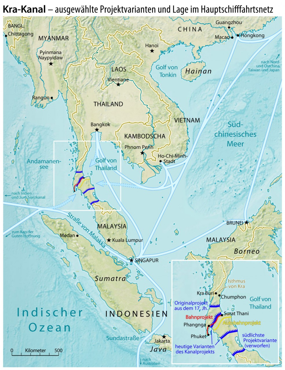 Закат Сингапура: Китай начнет строительство альтернативного канала в Индийский океан