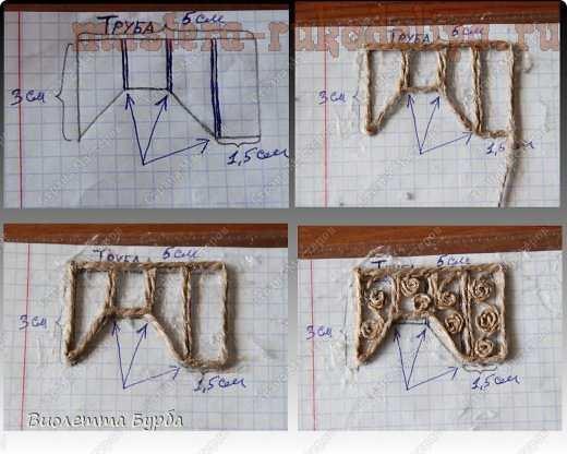 Мастер-класс по филиграни из джутового шнура: Две шкатулки