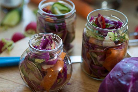 6. Быстрый салат из маринованных овощей еда, своими руками, сделай сам