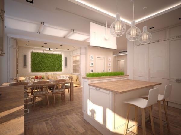 вертикальное озеленение кухни