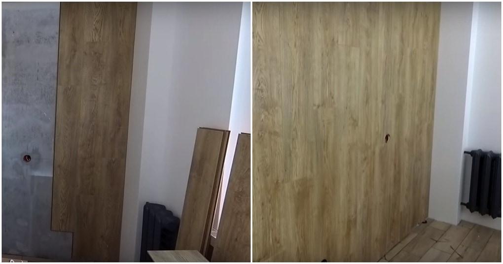 Оригинальное оформление стены ламинатом с пошаговой инструкцией