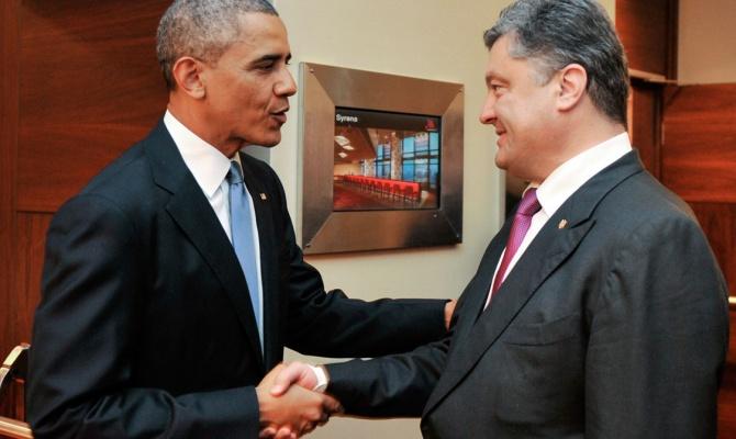 Порошенко и Обама скоординировали позиции по антироссийским санкциям