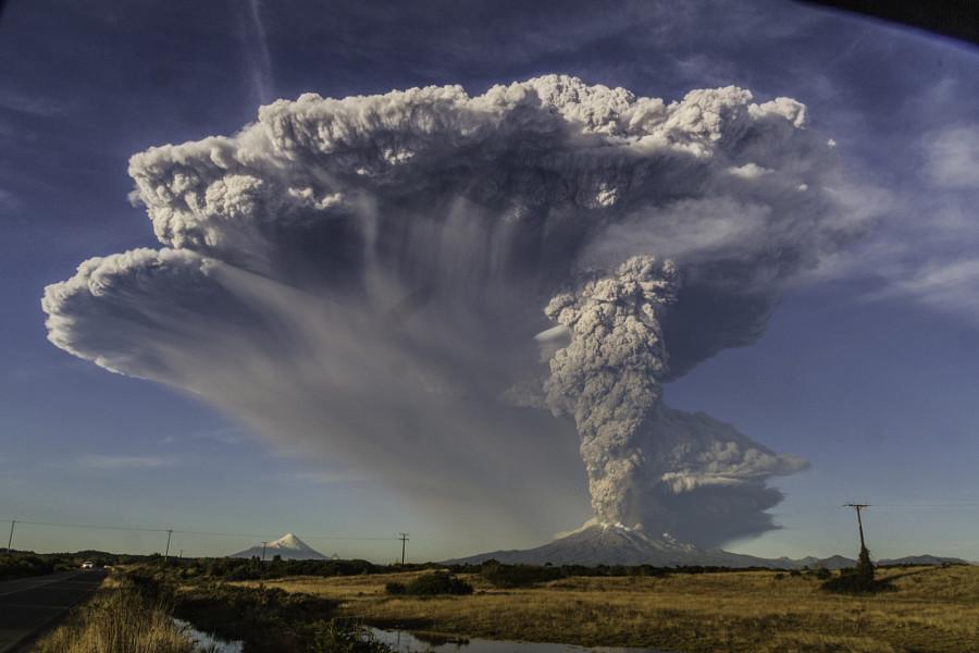 Извержение Кальбуко вулкан, фото