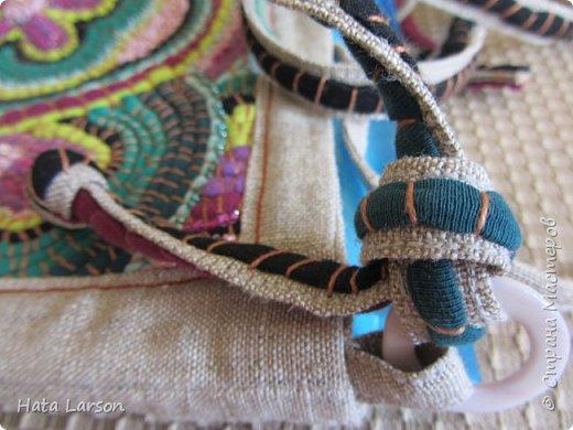 Мастер-класс Поделка изделие Вышивка Вышивание бу футболками Бисер Канва Нитки Ткань фото 25