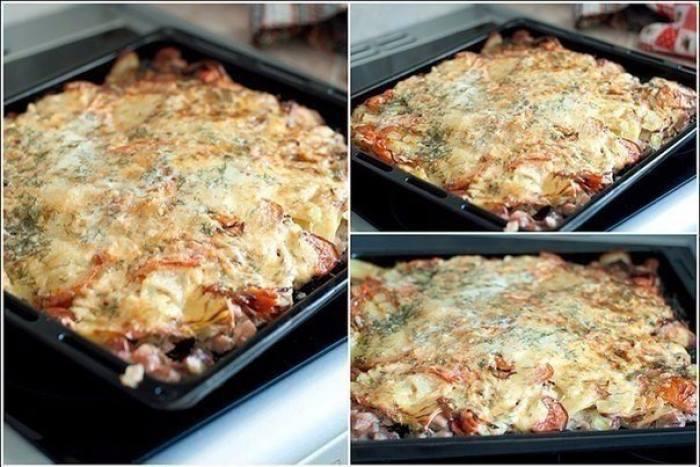 Изумительно запеченное под шубой мясо: вкусно, много, красиво и главное - быстро!